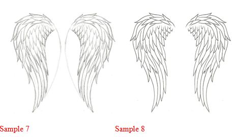 Realistic Angel Wings Drawing