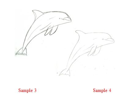How To Draw A Dolphin Jumping Out Of The Water Step By Step