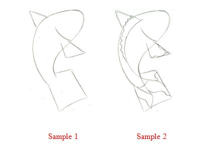 how to draw koi fish scales