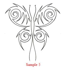 How to draw - How to Draw a Tribal Butterfly Tattoo