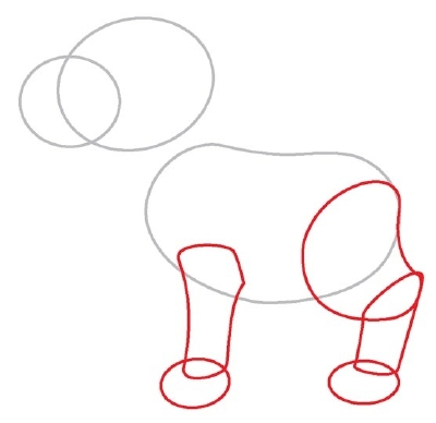 draw a dog - step 2
