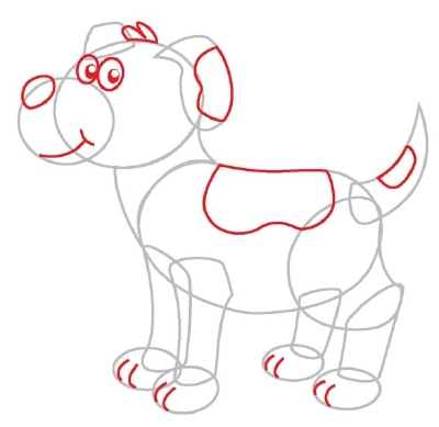 How to draw a cartoon dog - photo#17