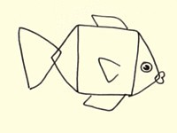 Draw a fish - step 2