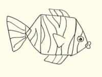 Draw a fish - step 3