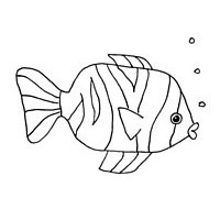 Draw a fish - step 4