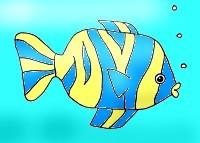 тропическая рыбка, которую просто нарисовать своими руками