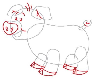 Pig drawing - photo#24