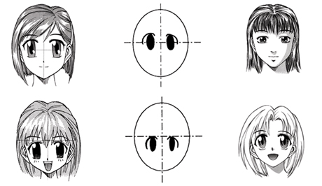 How to draw - Learn do draw children anime faces