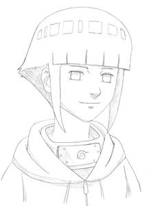 Learn to draw Hinata - completed draw