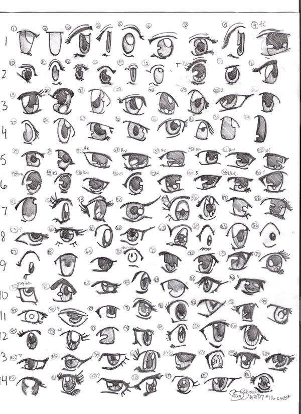 How to draw - How to draw manga eyes