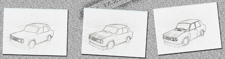 Draw car - step by step guide - step 3
