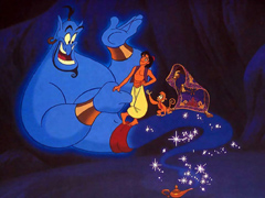 Alladin and the genie