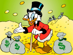 Scrooge and his money