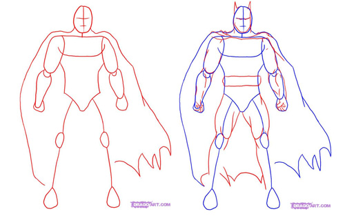 Draw Batman - step 1