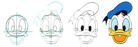 How to draw Donald in 4 steps