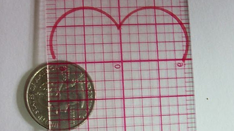 Learn to draw a heart with a coin and ruler